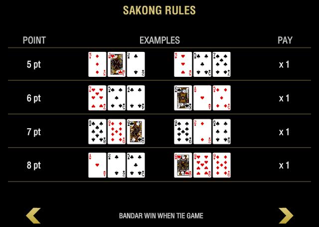 perhitungan kartu sakong